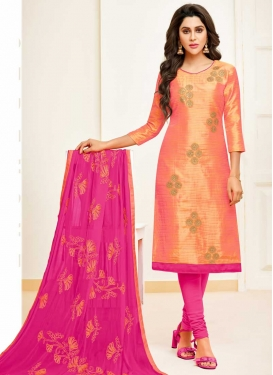 Banarasi Silk Trendy Churidar Salwar Suit