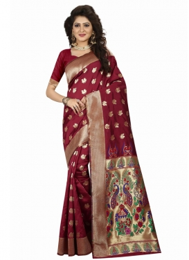 Banarasi Silk Trendy Classic Saree For Ceremonial