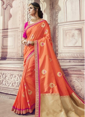Banarasi Silk Trendy Classic Saree For Festival