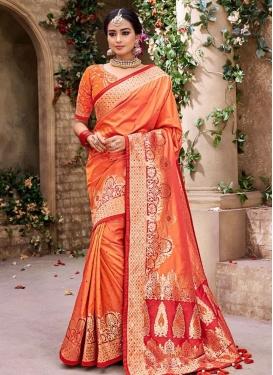 Banarasi Silk Trendy Saree For Bridal