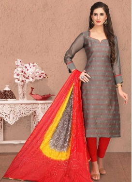 Banarasi Silk Trendy Straight Salwar Kameez