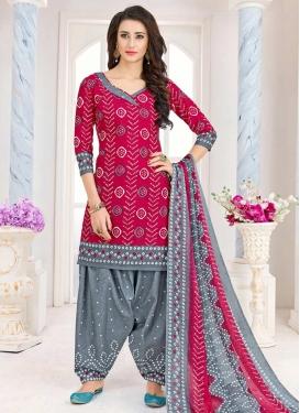 Bandhej Print Work Designer Patiala Salwar Suit