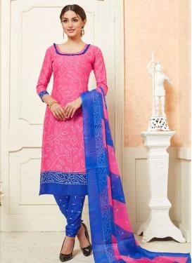 Bandhej Print Work Trendy Churidar Suit