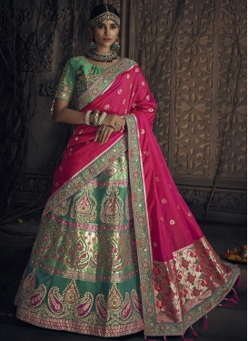 Banglori Silk Beads Work A Line Lehenga Choli