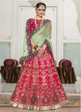Banglori Silk Beads Work Lehenga Style Saree