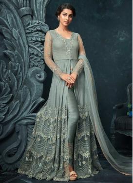 Banglori Silk Beads Work Pant Style Designer Salwar Suit