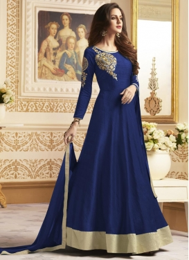 Banglori Silk Cutdana Work Long Length Designer Anarkali Suit
