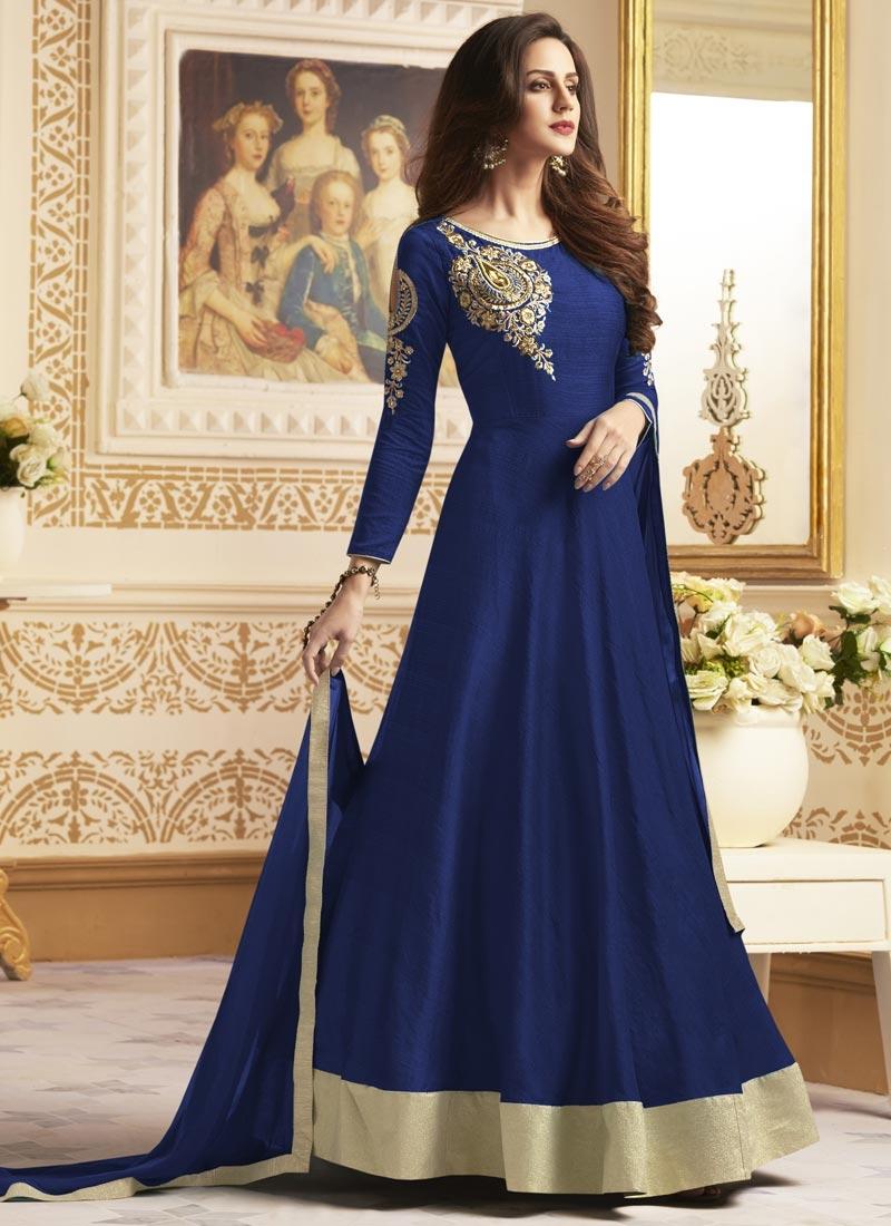 Banglori Silk Cutdana Work Long Length Designer Anarkali Suit