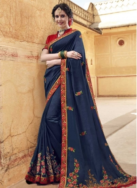 Banglori Silk Designer Contemporary Saree For Party