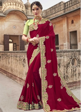 Banglori Silk Designer Contemporary Style Saree For Festival
