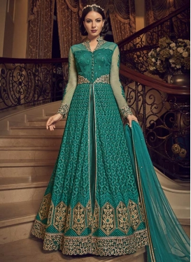 Banglori Silk Designer Kameez Style Lehenga Choli