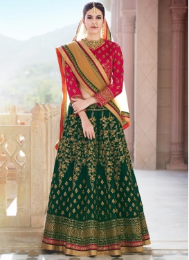 Banglori Silk Embroidered Work A Line Lehenga Choli