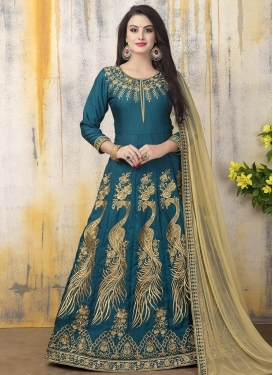 Banglori Silk Embroidered Work Anarkali Salwar Kameez
