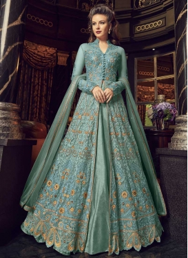 Banglori Silk Embroidered Work Designer Kameez Style Lehenga Choli