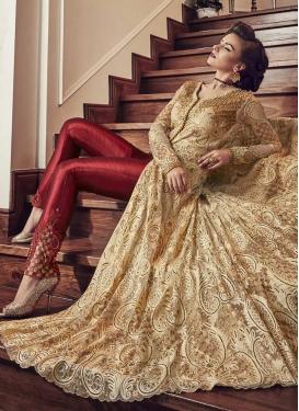 Banglori Silk Embroidered Work Pant Style Designer Salwar Kameez