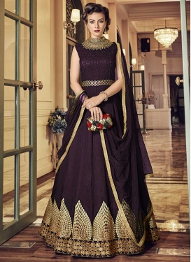 Banglori Silk Floor Length Anarkali Salwar Suit