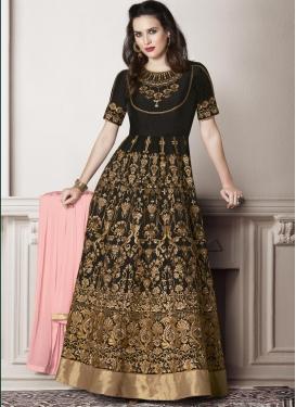 Banglori Silk Floor Length Anarkali Salwar Suit For Festival