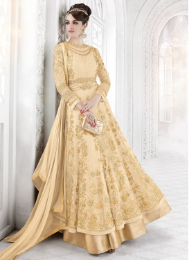 Baronial Embroidered Work Designer Ankle Length Suit