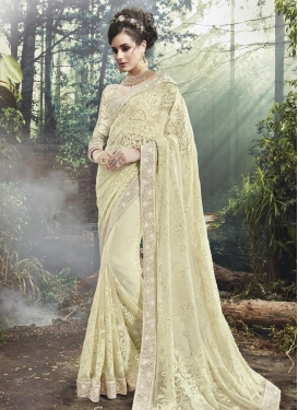 Baronial  Embroidered Work Traditional Saree For Festival