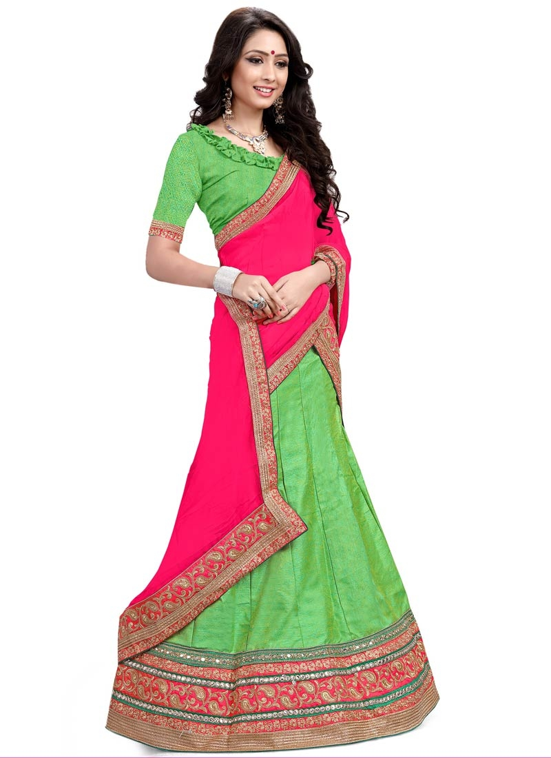 Baronial Mint Green Color Designer Lehenga Choli
