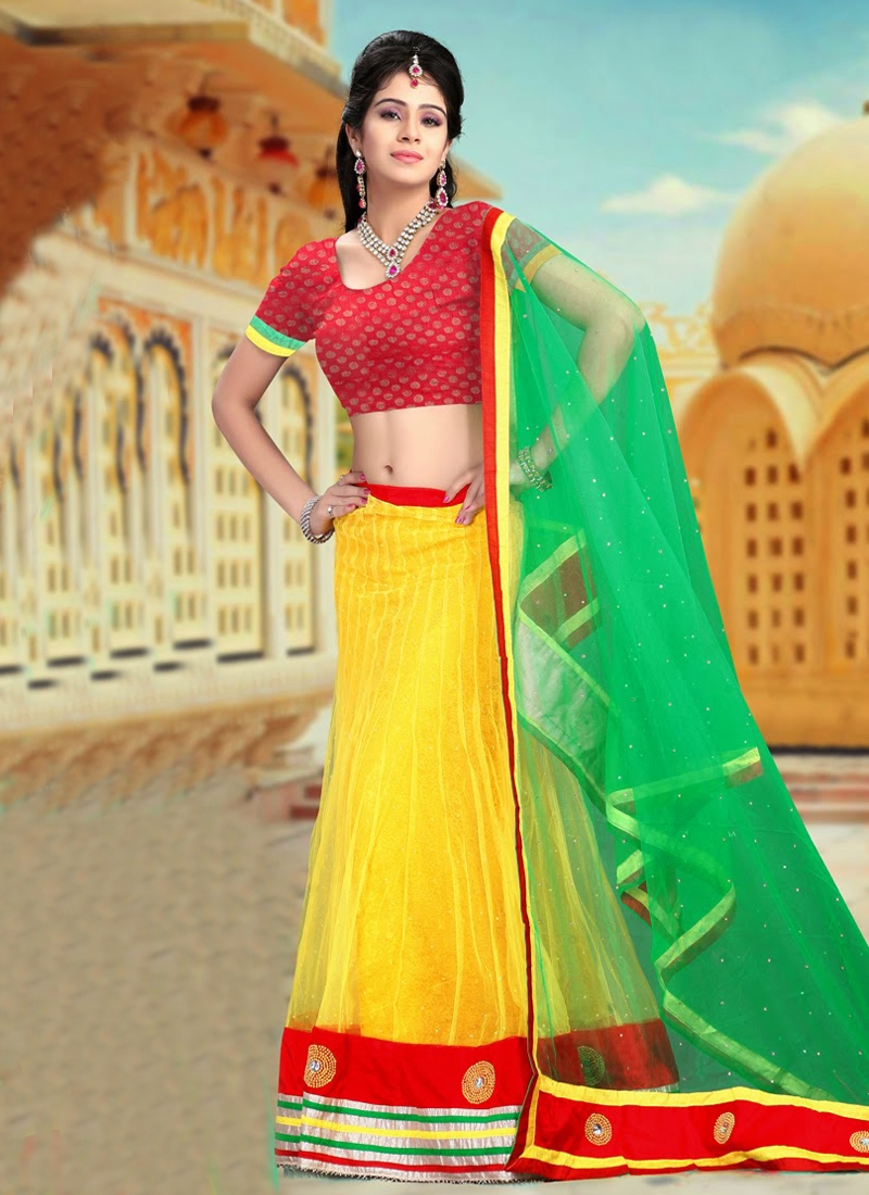 Bead And Lace Work Party Wear Lehenga Choli