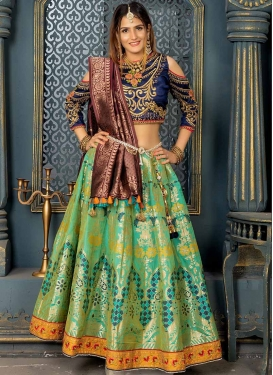 Beads Work A - Line Lehenga For Party