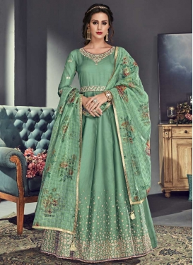Beads Work Anarkali Salwar Kameez