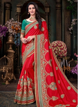 Beads Work Art Silk Classic Designer Saree For Ceremonial