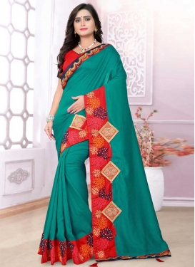 Beads Work Art Silk Classic Saree For Ceremonial
