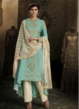 Beads Work Asymmetrical Designer Salwar Suit