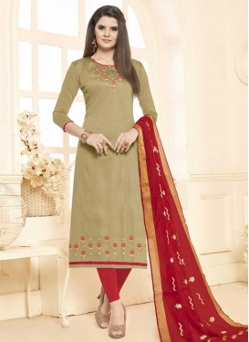 Beads Work Churidar Salwar Kameez