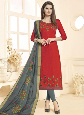 Beads Work Churidar Salwar Suit