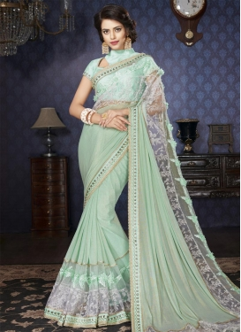Beads Work Classic Designer Saree For Ceremonial