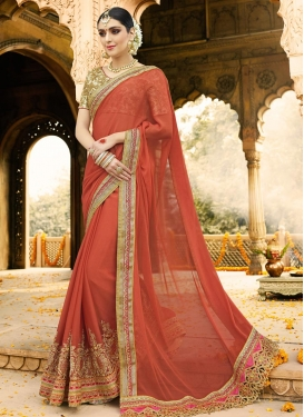Beads Work Classic Saree For Festival