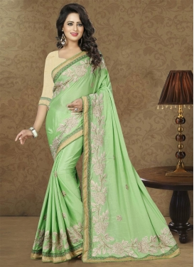 Beads Work Contemporary Saree For Party