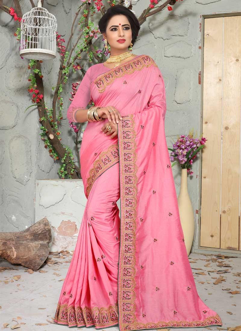 Beads Work Designer Contemporary Saree