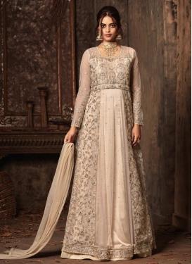Beads Work Designer Floor Length Salwar Suit