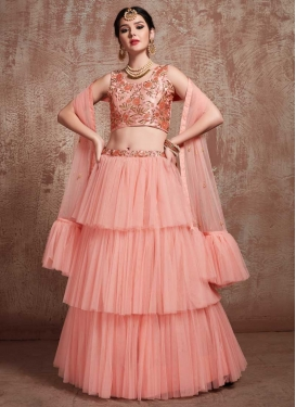 Beads Work Designer Lehenga Choli