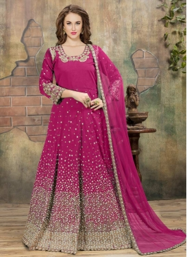 Beads Work Floor Length Anarkali Salwar Suit