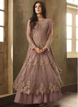 Beads Work Layered Designer Salwar Kameez