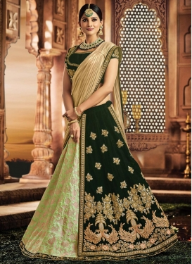 Beads Work Lehenga Saree