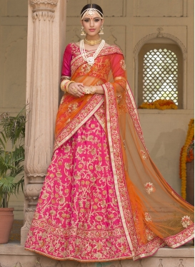 Beads Work Lehenga Saree For Bridal