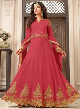Beads Work  Long Length Designer Anarkali Suit For Festival