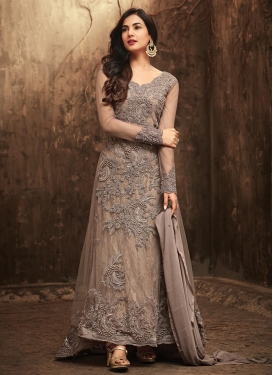 Beads Work Long Length Salwar Kameez