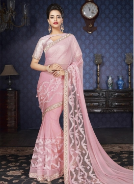 Beads Work Lycra Classic Saree
