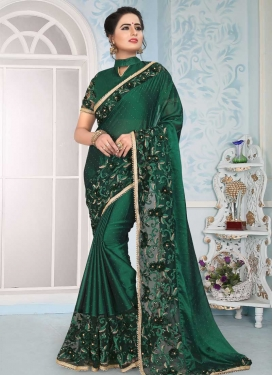 Beads Work Net Trendy Saree