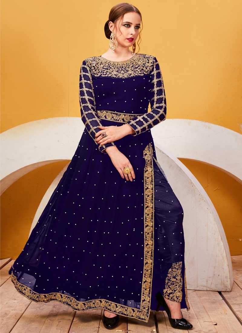 Beads Work Pant Style Designer Salwar Kameez
