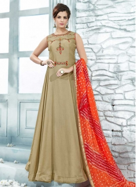 Beads Work Readymade Floor Length Gown