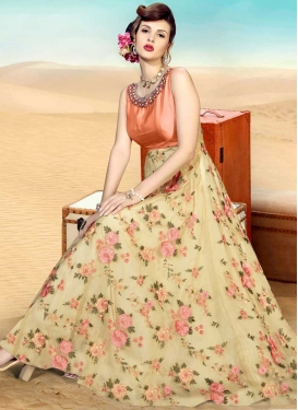 Beads Work Readymade Long Length Gown