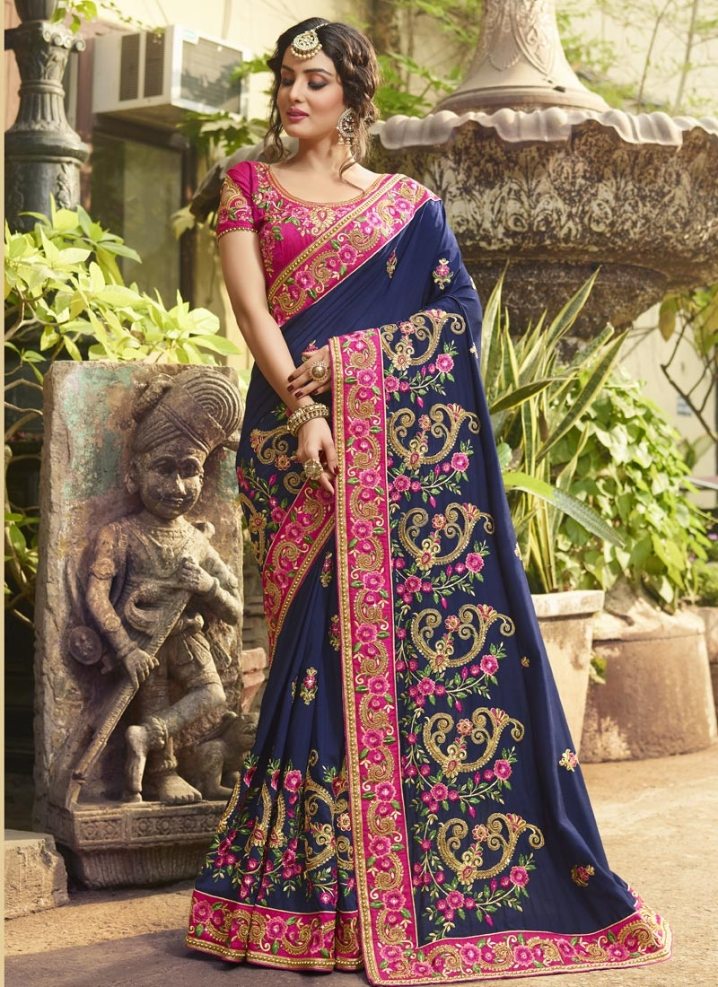 Beads Work Silk Classic Saree